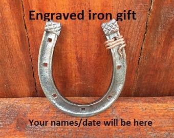 Iron anniversary gift, iron anniversary, 6th anniversary gift, iron gift, 6th anniversary gift for her, lucky horseshoe, iron gifts, iron