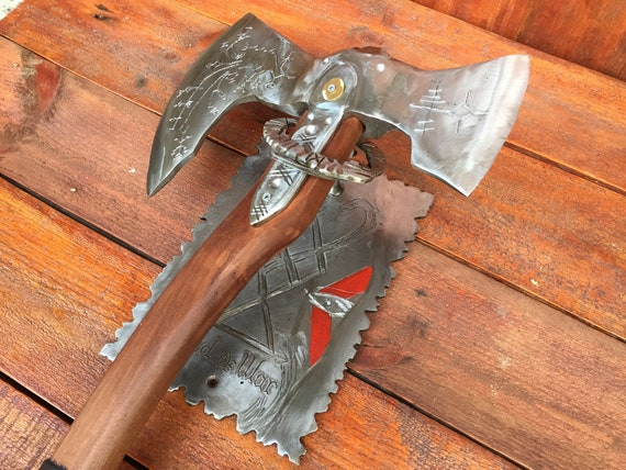 Axe Holder Axe Stand Leviathan Axe God Of War Axe Kratos Axe Cosplay Viking Axe Mens Gifts Medieval Axe Tomahawk God Of War Decor