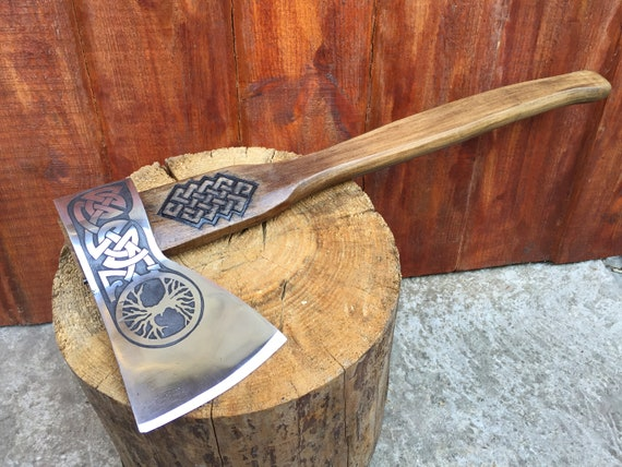 medieval axe ax gifts for men viking axe iron gift for him tree of life mens gifts Axe kitchen utinsils,tomahawk mens birthday gift
