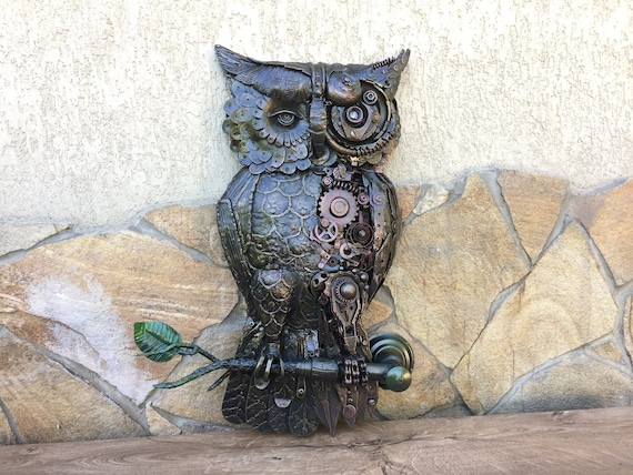 Steampunk Owl Sculpture