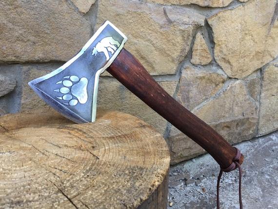 metal art hatchet Viking axe axe iron anniversary wooden art bearded axe gift for men,mens birthday gift viking tomahawk mens gift