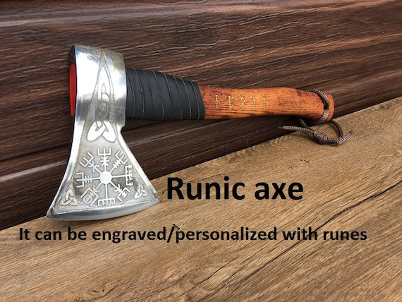 runes amulet Viking axe runes art vegvisir runes etched mens gifts runes gift for boyfriend runes decor viking compass viking armor