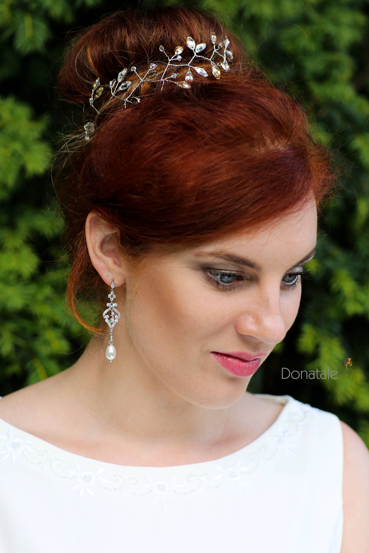 Art Deco Earrings , Vintage Style Crystal Pearl Earrings, Bridal Earrings, Wedding Earrings, Pearl Drop Earrings, Wedding Jewelry, UK