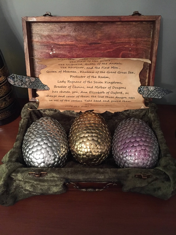 Game of Thrones inspired dragon egg box | Etsy