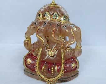 Rosequartz five head ganesh / 5 head ganesh / ganesh statue / ganpati Figurine / hindu diety / hindu god figurine / hindu god sculptures