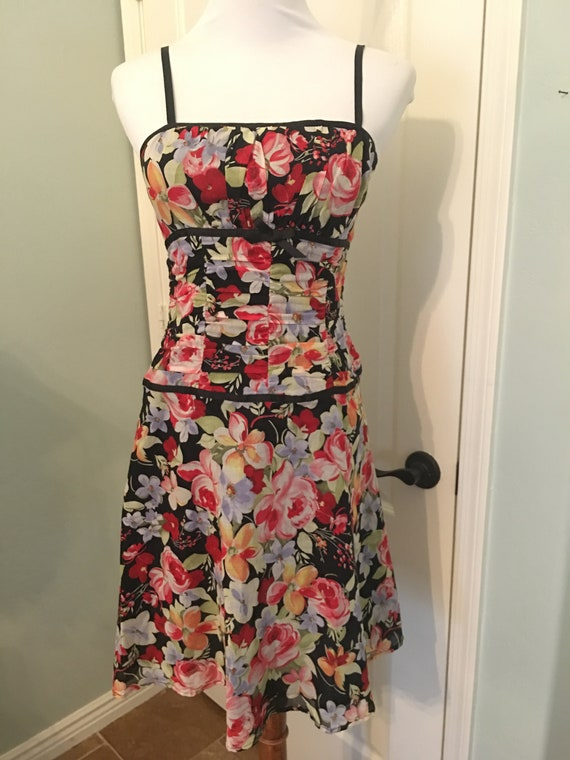 Vintage Mica 90's Cotton Floral Sundress