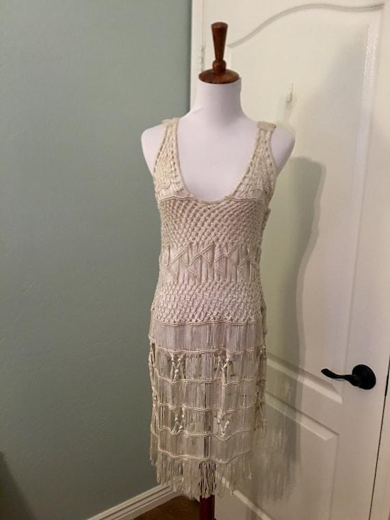 Vintage 70s Crochet Dress