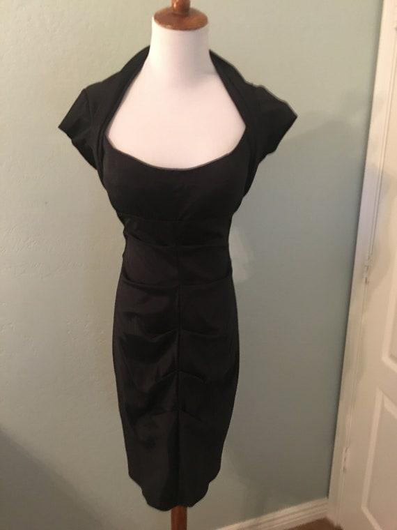 Vintage 80's open Back Black Dress