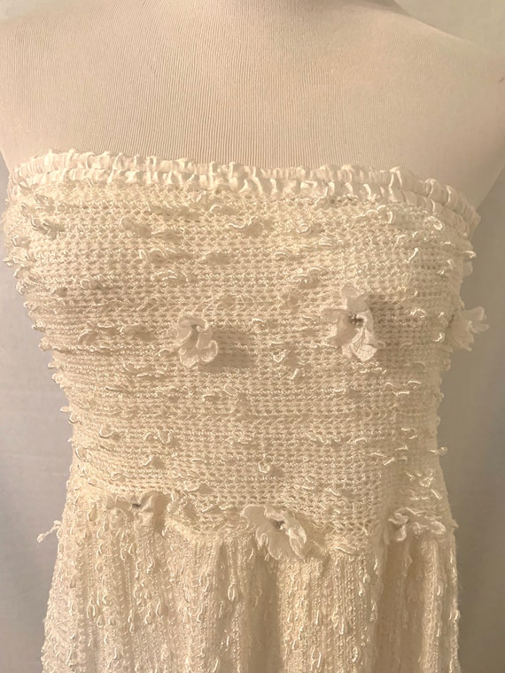 Vintage Char Var Italian Knit Beaded Sundress