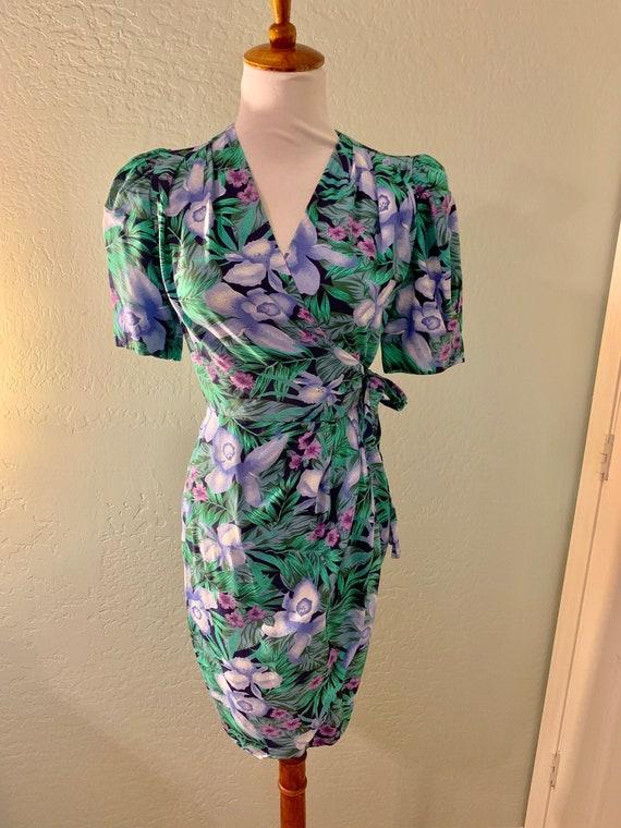 Vintage 80s Tropical Dress
