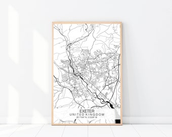Exeter Map Etsy