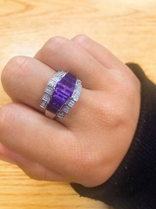 Genuine Amethyst Ring