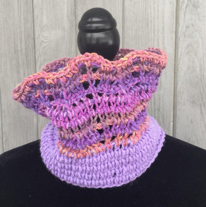 Dusky Sunset Cowl Pattern Tunisian Crochet Etsy