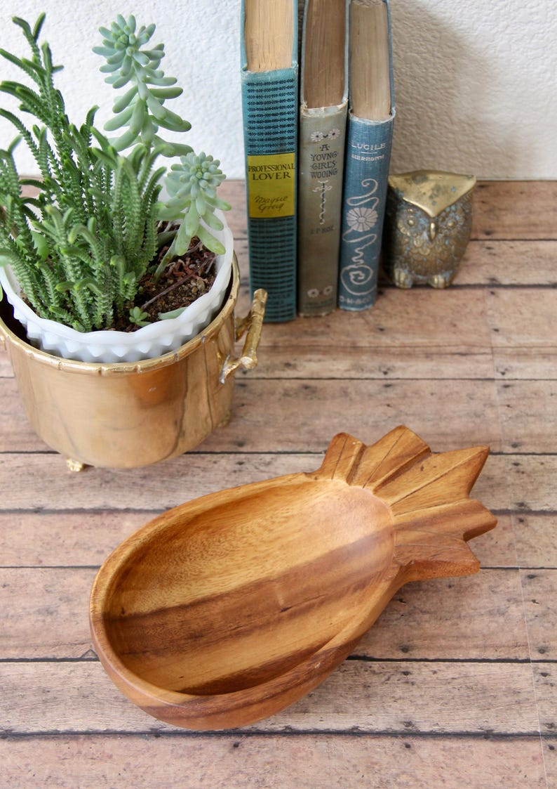 Pineapple Tray Wooden Pineapple Tray Vintage Pineapple Tray Wooden Pineapple Pineapple Decor Pineapple Trinket Tray Pineapple