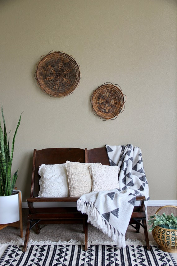 Crochet pillow set, Decorative pillows for couch, Decoration boheme, Rustic  home decor