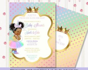 Rainbow Unicorn | Little Princess | Vintage Baby | Personalized Digital Invitation