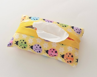 Ladybug Fabric Purse Tissue Holder