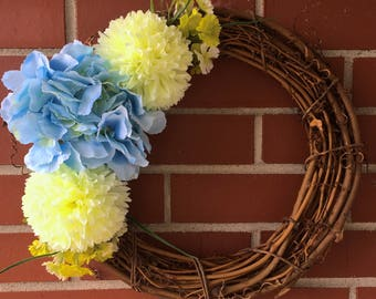 Limelight Hydrangea Wreath