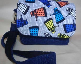 Dr Who Daleks inspired crossbody/handbag