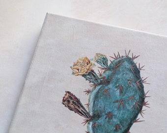 Original 8 x 10 Cactus Acrylic Painting / Minimalistic / Modern Art / Hand-painted