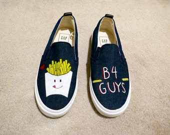 7ae4a7d782 Fries B4 Guys Canvas Shoes