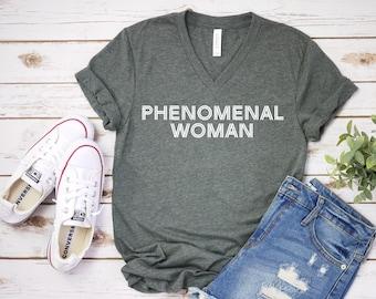 477fd58be Phenomenal Woman Unisex T Shirt - Women's Everyday Tee - Custom Humor Tee