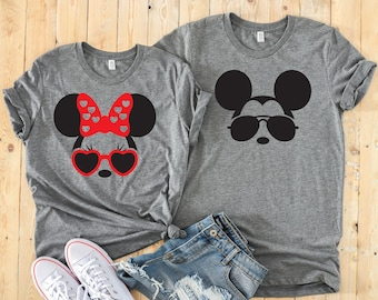 8a133be18227 Minnie Mouse   Mickey Mouse Matching Disney Couples Unisex Shirts and  Family Shirts with option to Customize