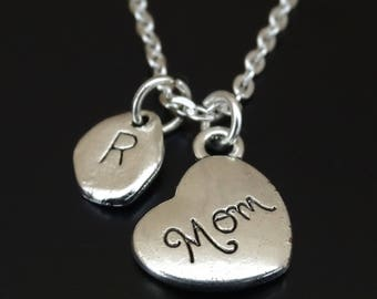 Mom Necklace, Mom Charm, Mom Pendant, Mom Jewelry, Mom Gifts, Mom from Daughter, Mom Gifts from Daughter, Mom Birthday, Gift for Mom, Mommy