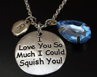 I Love You So Much I Could Squish You Necklace, Best Friend Necklace, Best Friend Jewelry, You are my Person Necklace, Friendship Necklace