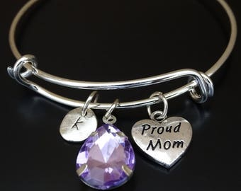 Proud Mom Bracelet, Proud Mom Bangle, Proud Mom Charm, Proud Mom Pendant, Proud Mom Jewelry, New Mom Bracelet, New Mom Gift, New Mother Gift