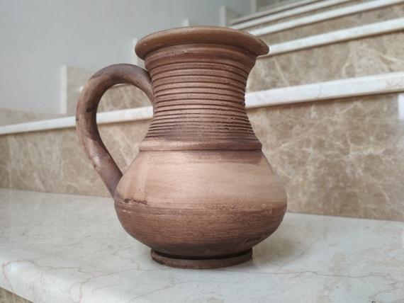 Earthenware Carafe Ceramic Bottle Pottery Wine Bottle Art Ceramic Pitcher Pottery Home Decor Bottle Stoneware Liquor Bottle