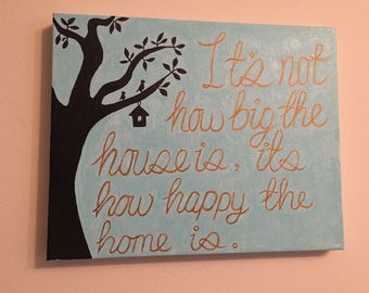 Family, home, love, quote canvas