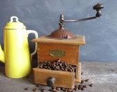 Coffee grinder French coffee mill farmhouse decor rustic decor vintage coffee mill coffee vintage kitchen decor home decor housewarming gift