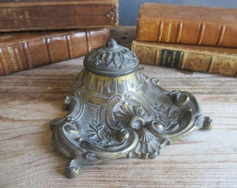 French inkwell vintage inkwell desk accessories office desk office decor vintage desk decor writing desk accessories gift for writer