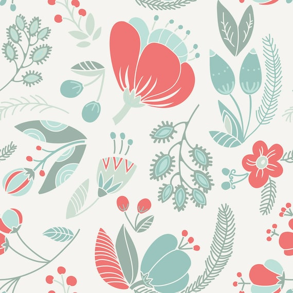 Large Floral Removable Wallpaper Peel And Stick Wallpaper Etsy