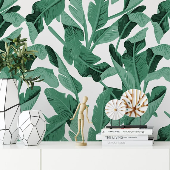 Banana Leaf Wallpaper Rainforest Tropical Green Leaves Etsy See more ideas about tropical, tropical leaves, leaves. etsy