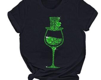 Sublimation Buffalo Plaid Shamrocks Wine Glasses Wine Lovers Gift Printable Art Leprechaun Hat Bottoms Up Bitches Png Patrick/'s Day