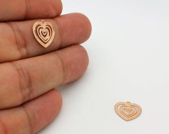 Real 16K Gold Plated Over Brass Large Drop Pendant Drop Connector 11R3-10G-13C Drop Link Teardrop Charm Drop Earring Pendant 2 Pcs