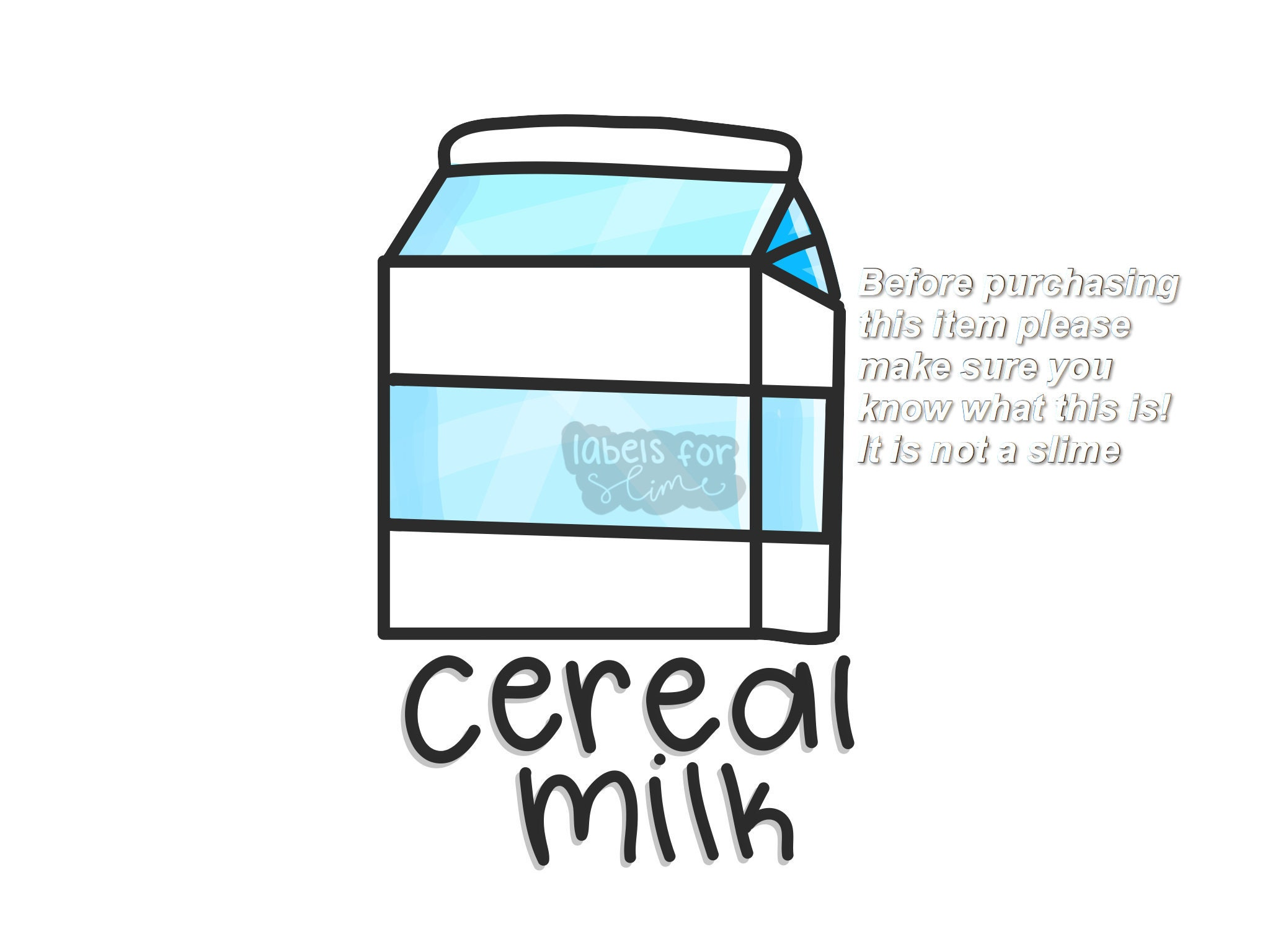 Cereal milk slime label ccuart