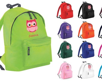 dc49a76c6c Personalised Owl Animal Backpack Rucksack School Bag PE Kit Swim Sack Boys  Girls Secret Santa Xmas Gift Tumblr Pintrest