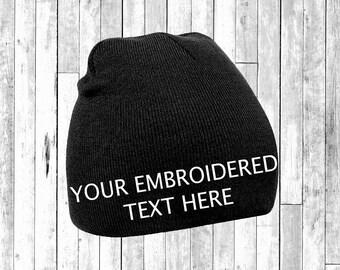 99ea6ab5b2054 Gorro bordado personalizado sombrero suéter autoadhesiva Wooley sombrero  Unisex Santa secreto regalo Pintrest Tumblr
