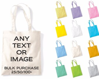 297ed696f Bulk Personalised Custom Printed Tote Bag For Life Shopper Grocery Shopping  Bags Multiples Joblot Wholesale