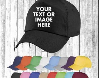 Personalised Embroidered Printed Baseball Cap Hat Custom Hat Unisex Secret Santa Gift Pintrest Tumblr