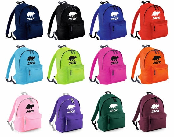 39815c4beeb0 Personalised Dinosaur 1 Triceratops Backpack Rucksack School