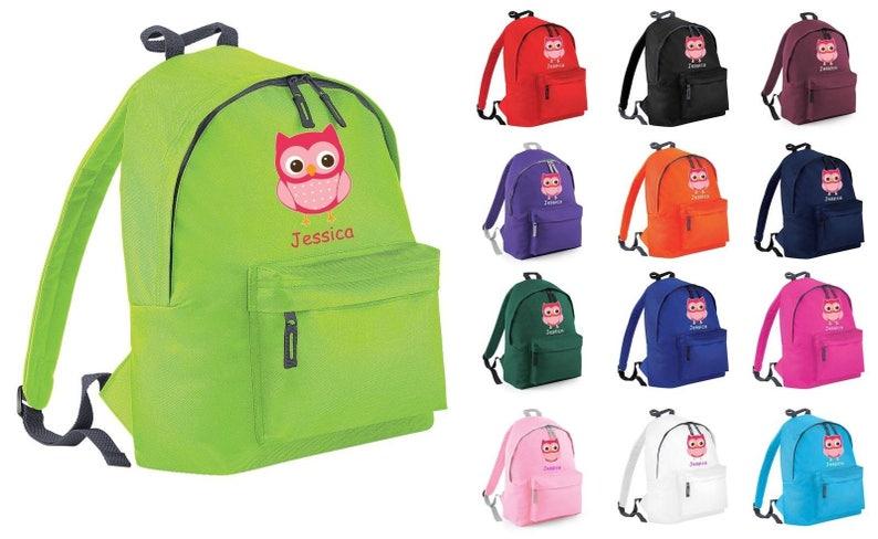 2c164653ced8 Personalizada búho Animal mochila mochila escuela PE bolsa Kit baño saco  chicos chicas secreto Santa Navidad regalo Tumblr Pintrest