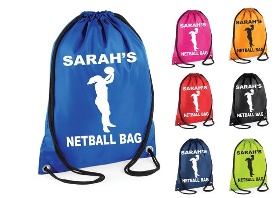 PE ICE HOCKEY PLAYER  PERSONALISED GYM SWIMMING BAG GREAT KIDS NAMED GIFT