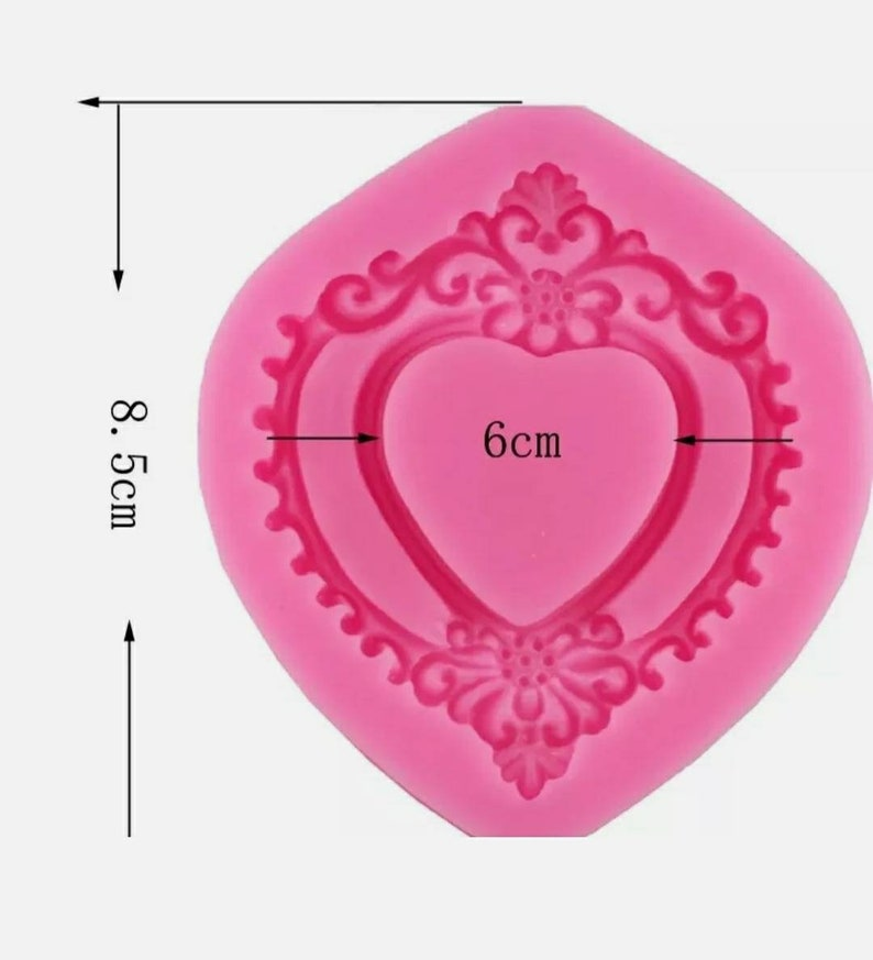 Heart frame silicone mould-Epoxy resinIcing-Vintage mirror mold-AntiqueShabby Chic