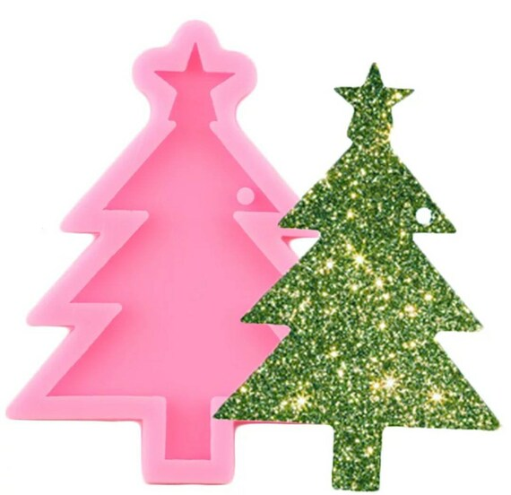 Christmas Tree DIY Craft Molds Epoxy Resin Silicone Casting Mould Xmas Decor NEW