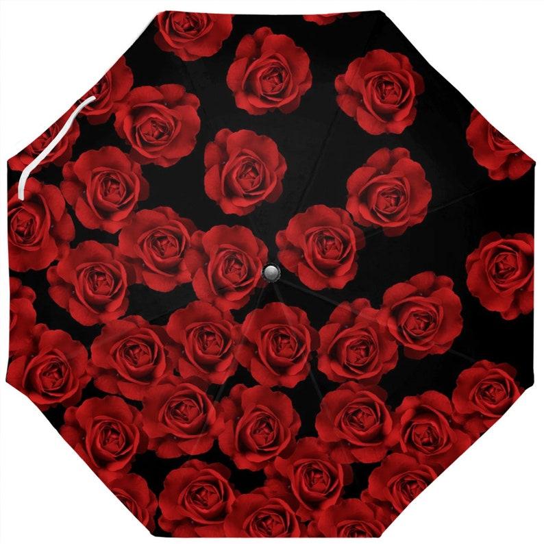 Cascade Of Red Roses Umbrella