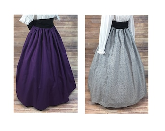 895a9acdb Skirt Only - Renaissance Civil War Victorian Southern Belle LARP Cosplay  Dickensonian Pioneer Trek- 7 colors - dress costume